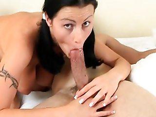 Horny Brunette Big Natural Tits Fuck