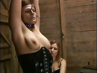 Dominatrix slut tortures sexy guy