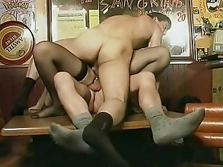 double penetration in a french restaurant