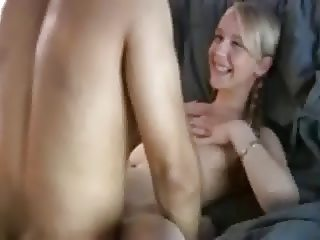 Blond Teen fucks a older Man