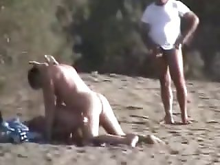 Nudisten fun on Beach