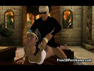 Sexy 3D cartoon egyptian babes getting fucked