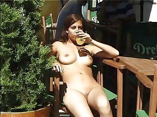 hot girl walking nude  in public part 3