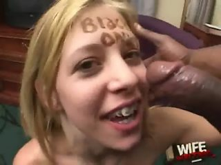 Black Cums In White Mouth!