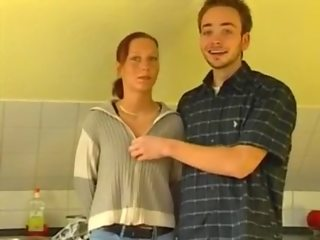 German Petite Teen Kitchen Fun