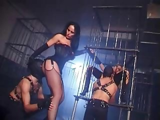 British slut Danielle gets fucked in the dungeon