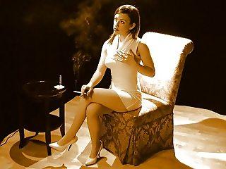 Jennifer, nude & smoking
