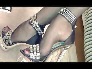 NYLONS AND PARTY HIGH HEELS