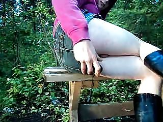 crossdresser anal fun outdoors