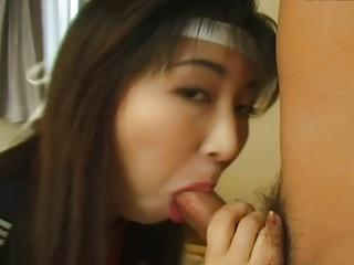 19yr old Japanese Schoolgirl Loves Bukkake (Uncensored)