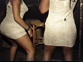 Twin girls dancing the ibex nite club