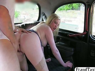 Big natural tits honey fucked for cash