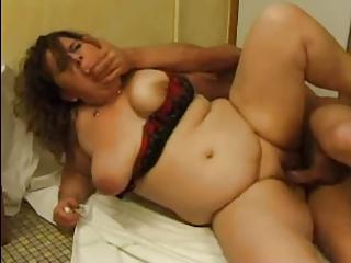 FRENCH MATURE n51 anal bbw mom with younger man