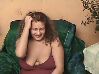 chubby babe on sofa