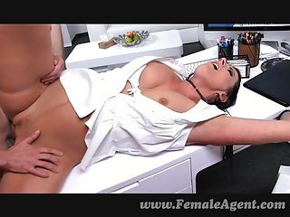 MILF fucked on her own desk