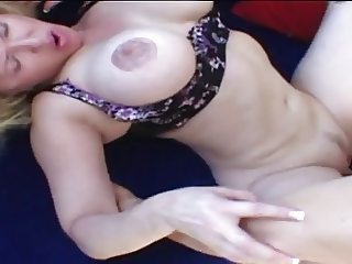 Classic Blonde MILF Cougar Toying and Banging