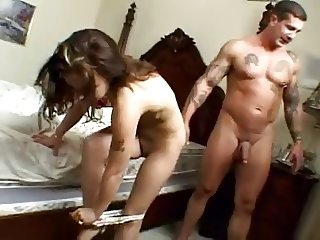 Cuck-Slut fucked by 2 bikers - Boyfriend on the phone