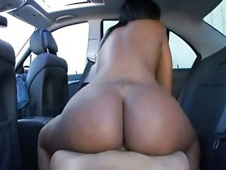 Toni Sweets POV backseat fuck ebony phat ass