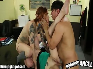 BurningAngel Mabel Threesome and Toy Fun