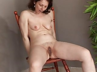 horny mature masturbating and squirting