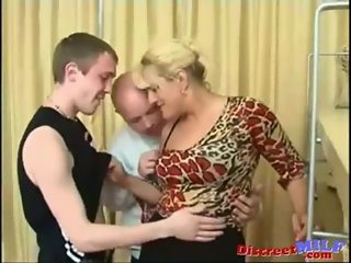 Parents teach their son some sex lessons