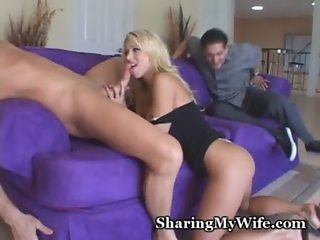 Yummy Blonde Shared With Well-Hung Stud