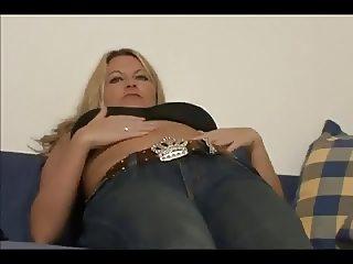 German Hot mom has a pierced clit