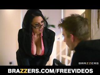 Naughty British nanny Louise Jensen disciplines her client