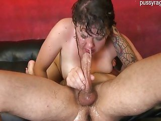 Bigass slut gagging
