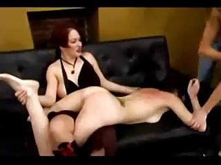 Slave girl whipped and tickled by 2 dominas