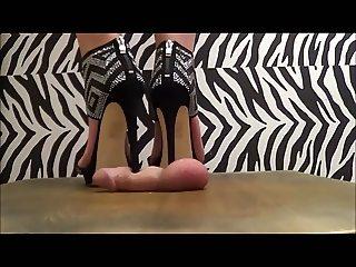 Glitter Heels Crushing your Genitals!