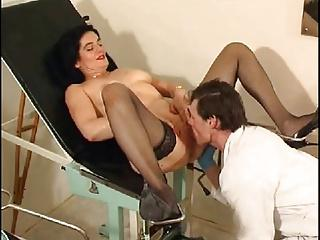 Gynecologist fist fucks his patient to test her sex drive