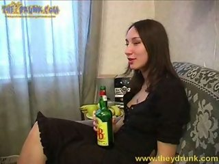 Drunk russian girl Inga