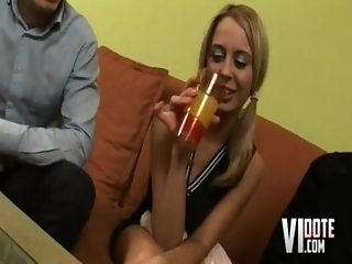 Drunken Lora blowjob
