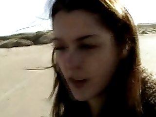 couple beach fun