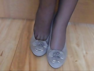 black nylon feet brown toenails