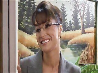 Hot brunette in glasses,MMF