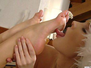 Christmas Feet Licking