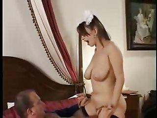 Hairy Russian Maid w Big Soft Boobs