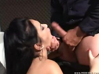 Policeman fucked Slut in her throat