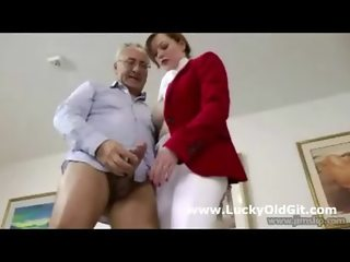 Cute naughty horserider fucks older british guy