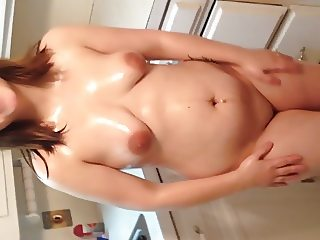 Oiled tits