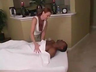 Hot cougar massage & cum swallow