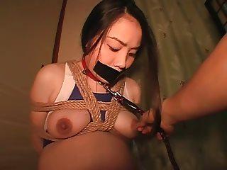 Extreme Gag Preggo Asian Bondage