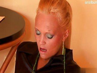 Beautiful housewife facial