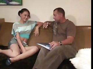 Papa - she swallows cum