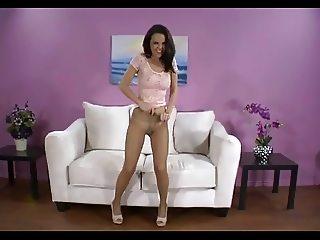 Brunette Teen In Pantyhose