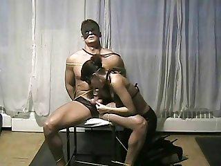 Tiffany Tied Slave And Orgasm