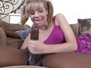 Young Chastity Lynn swallow first black sperm
