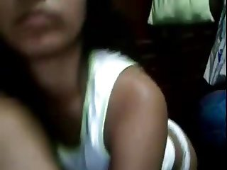 Virgin Peruvian teen flash tits and ass on webcam